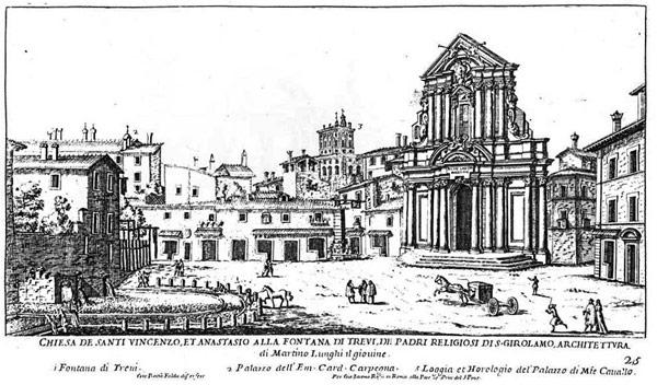 площадь Треви в 18 веке