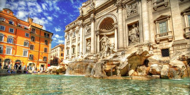 фонтан Треви достопримечательность Рим