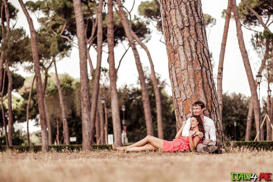 Медовый месяц в Италии и фотосессия в Риме