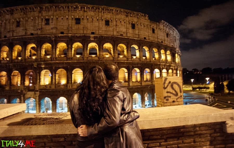 свадебное путешествие в Рим - фотосессия у Колизея