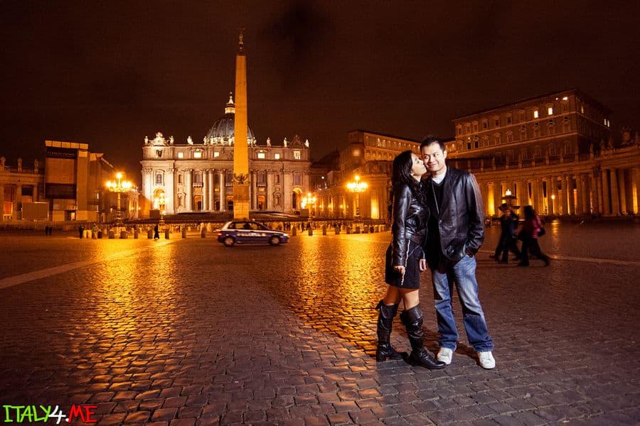 Ночной Рим - свадебное путешествие в Италию