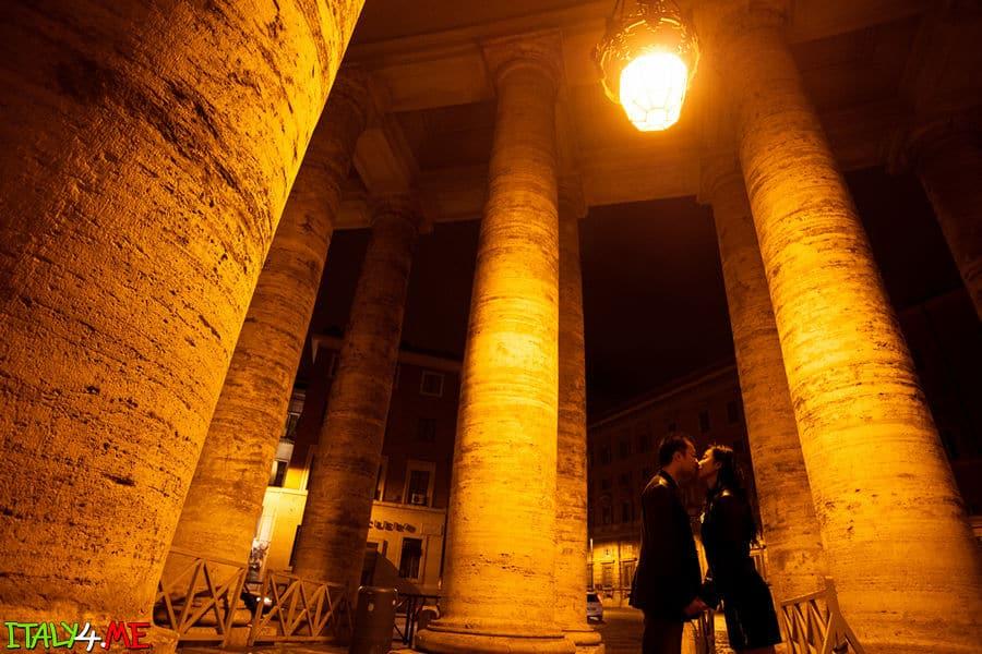 Ночной Ватикан - фотосессия в Риме