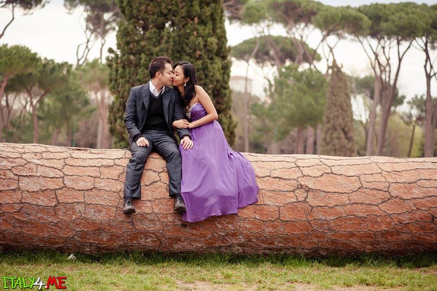 Вилла Боргезе - влюбленные в Италии