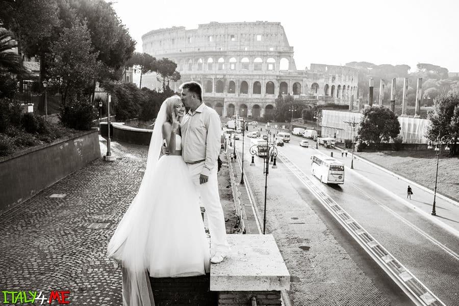 Колизей - свадебная фотосессия в Риме