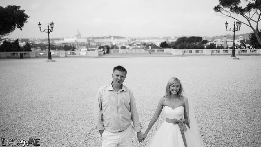 Свадебная фотосессия в Риме в сентябре