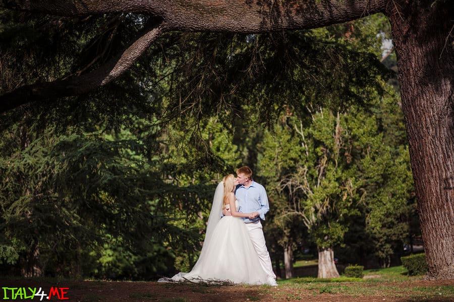 Вилла Боргезе - свадебное путешествие в Италию
