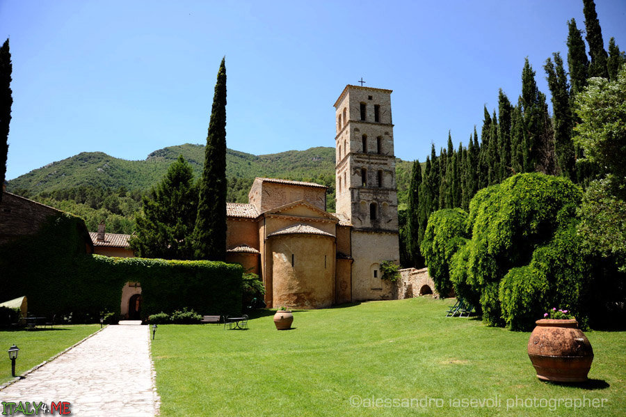 Abbey of San Pietro in Valle in Ferentillo  by Alessandro Iasevoli