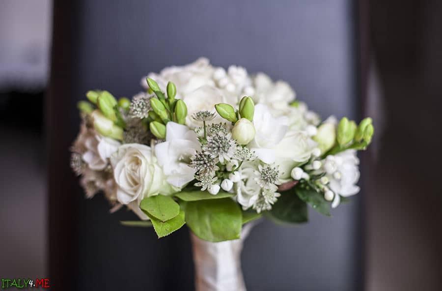 Букет невесты - итальянская свадьба в Равенне
