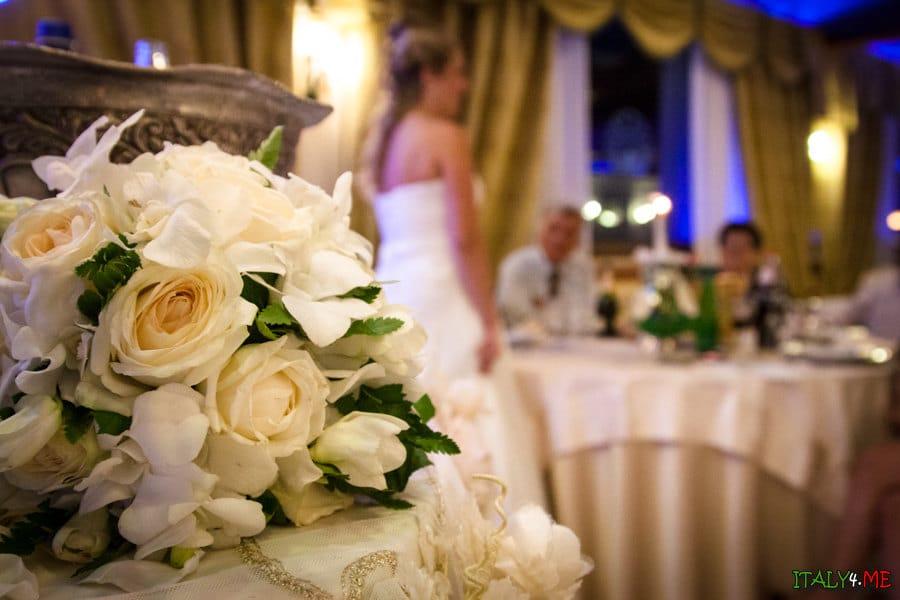 Букет невесты - свадьба в Риме