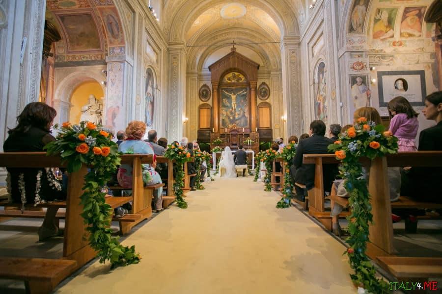 Церемония венчания в Италии