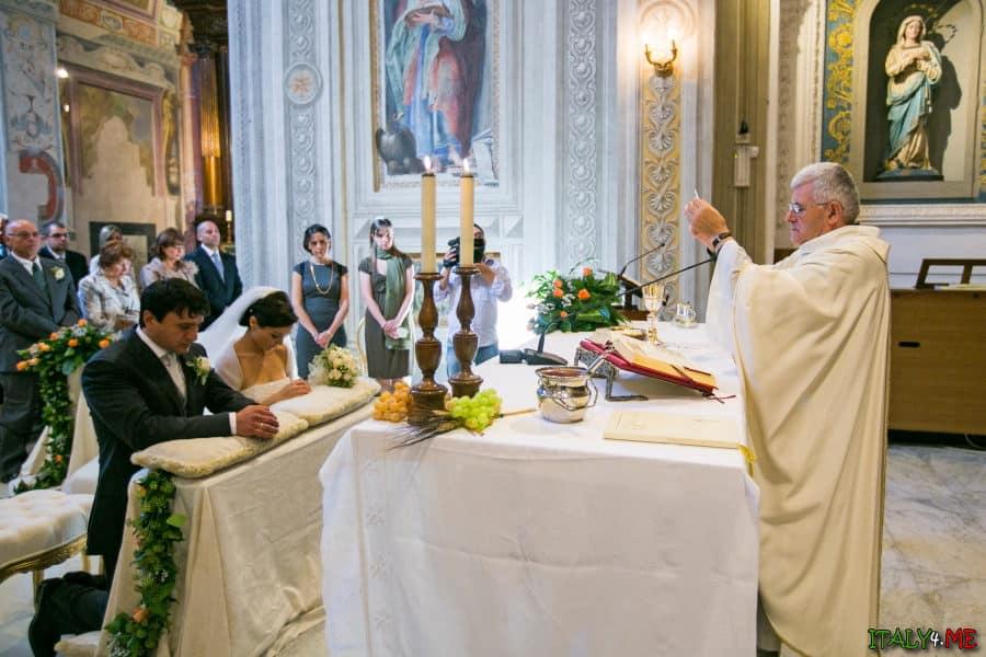 Церемония венчания в Италии фотограф - Джанфранко Катулло