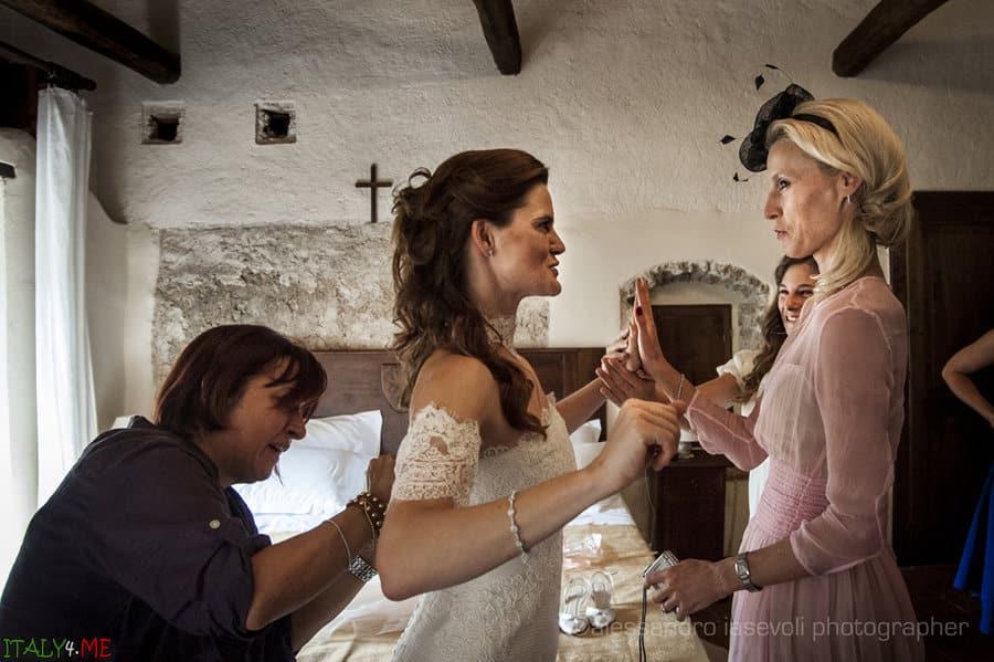 Итальянская свадьба - благословение матери