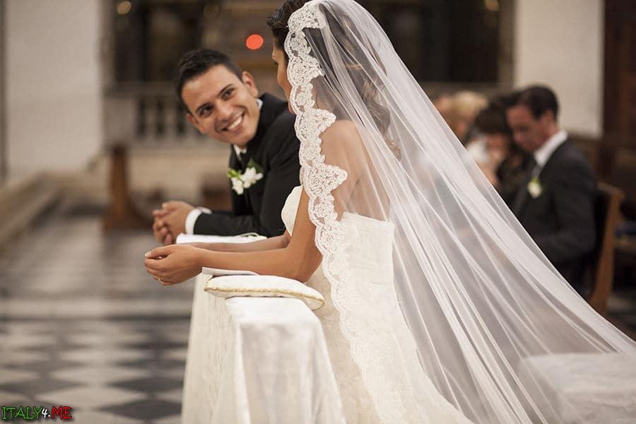 Итальянская свадьба - церемония в церкви