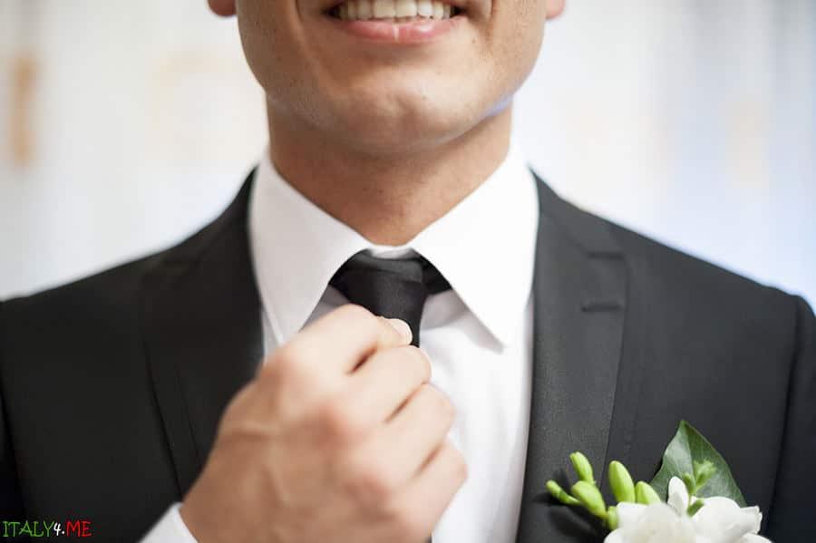 Жених -итальянская свадьба в Равенне