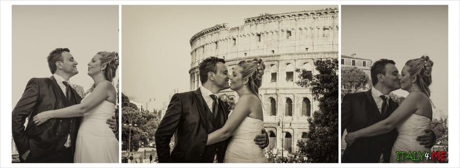 Красивая свадебная фотосессия в Риме