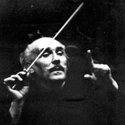 Артуро Тосканини - итальянский дирижер в театре Ла Скала в Милане