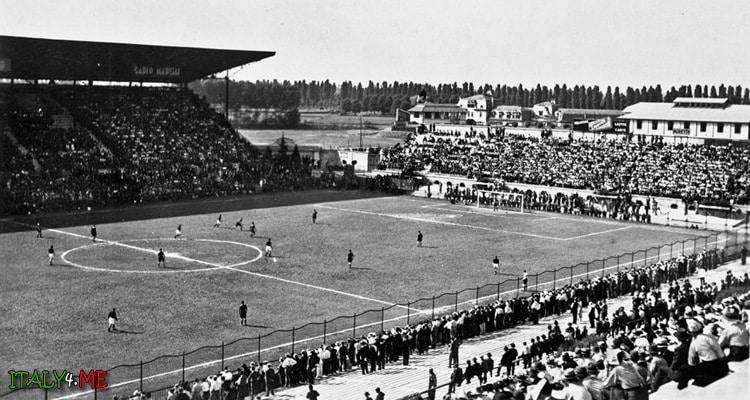 Стадион Сан-Сиро в Милане 30-е годы 20 века