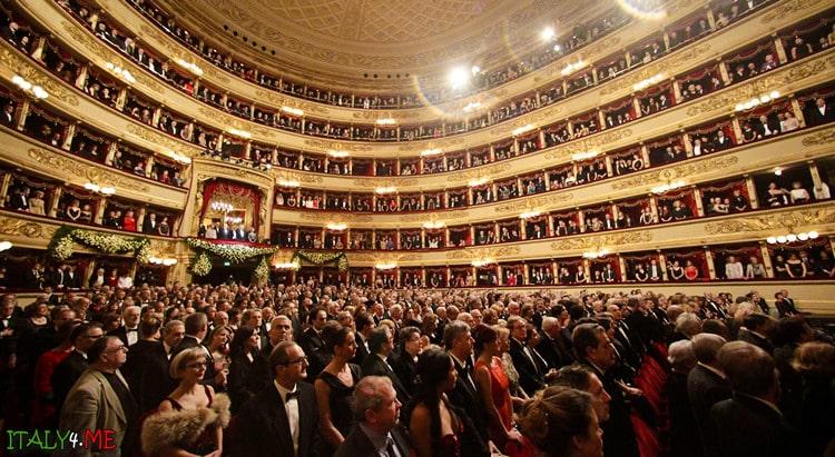 Зал театра оперы Ла Скала в Милане