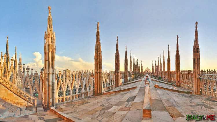 Собор Дуомо в Милане обзорная площадка на крыше
