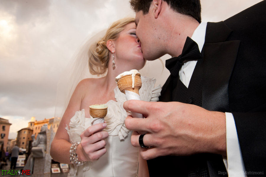 Итальянское мороженое в Риме