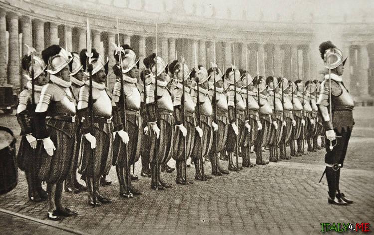 Швейцарская гвардия в Ватикане - начало 20 века