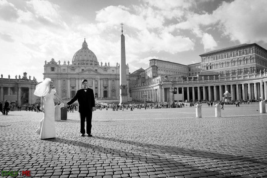 Свадьба в Риме - фотограф Лука Панвини