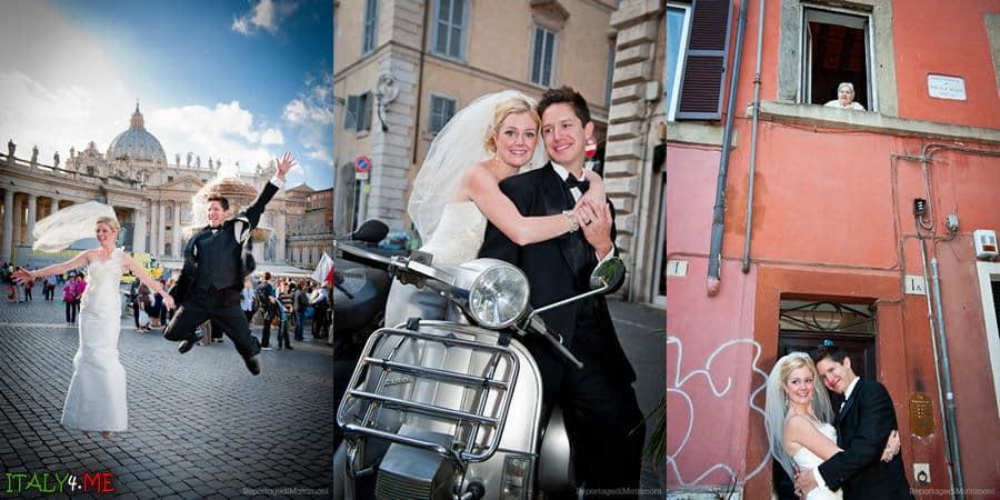 Свадебное фото в Риме