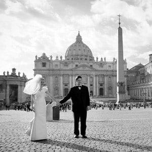 Веселая свадебная фотосессия в Риме