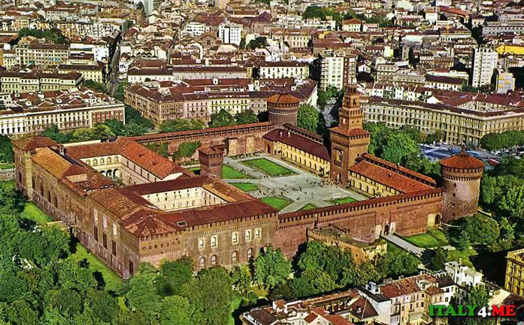 Замок Сфорца в Милане Сastello Sforzesco