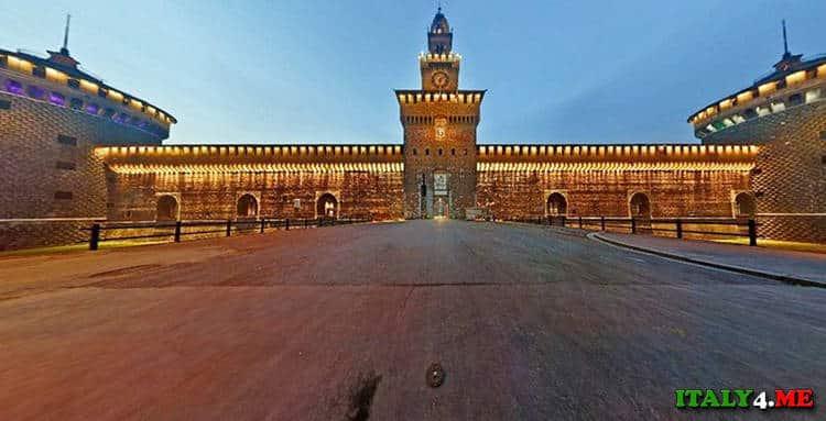 Piazza delle Armi - площадь армии у замка Сфорца в Милане