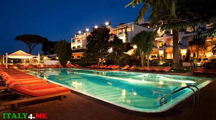лучший отель на острове Капри в Италии