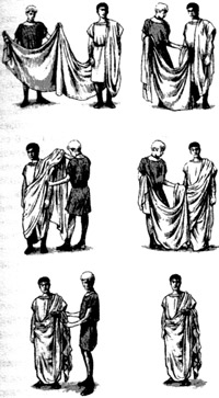 Ни один римлянин не выйдет из дому, не надев тоги