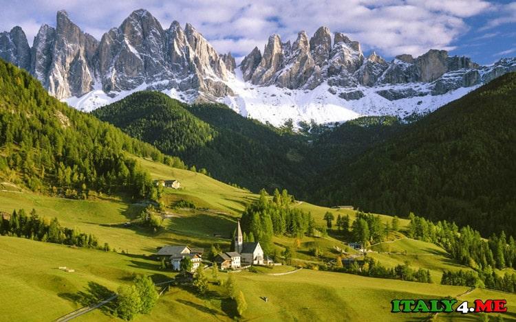 север Италии осенью