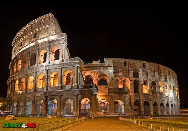 Ночной Рим Колизей