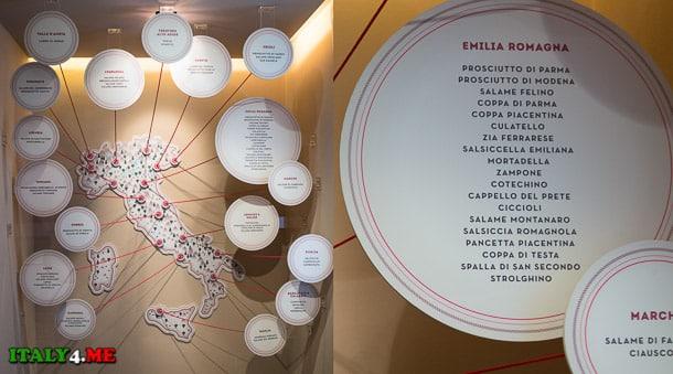 виды колбас производимых в Эмилия-Романья