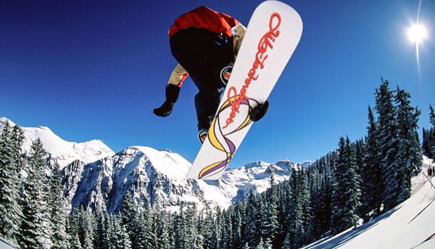 горы Италия сноуборд