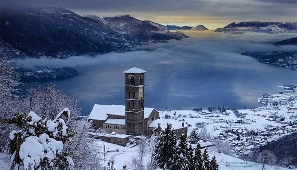 Италия, рождество, Комо