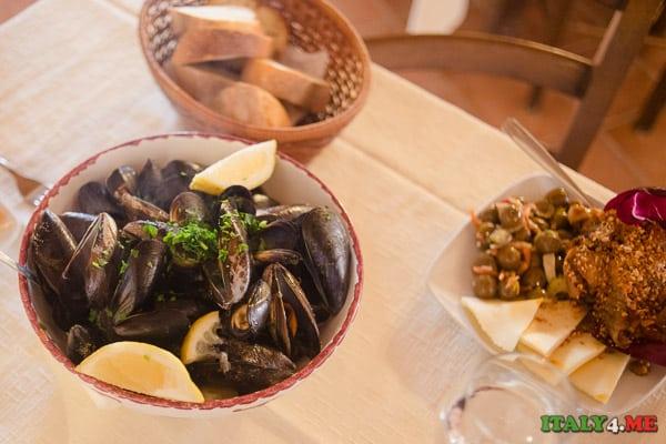 ресторан Сицилия мидии
