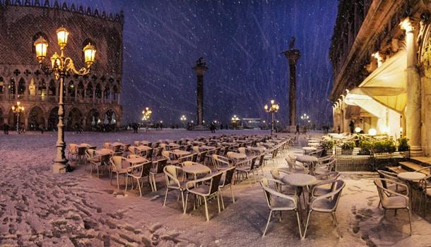 погода Италия зима снегопад Венеция