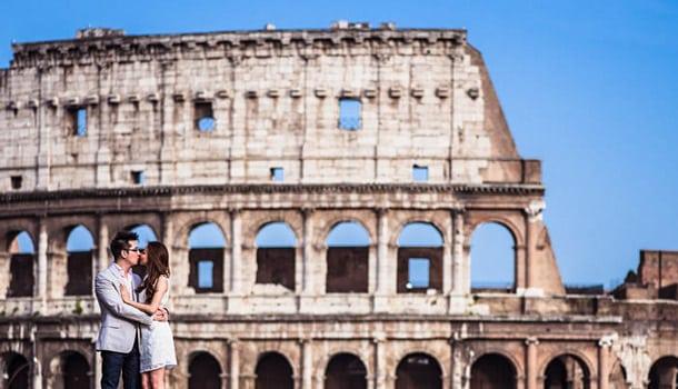 влюбленные Рим Италия