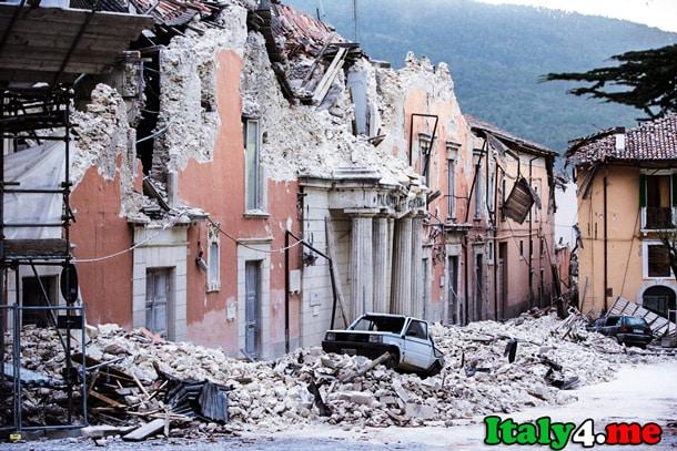 Аквила землетрясение Италия