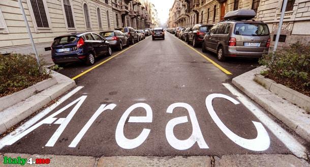 платная зона для авто в Милане