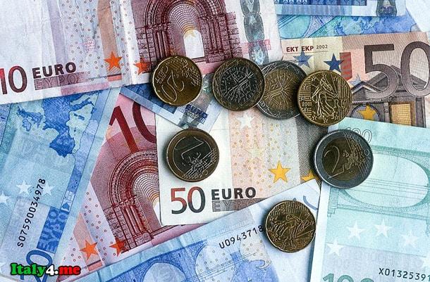 евро Италия деньги