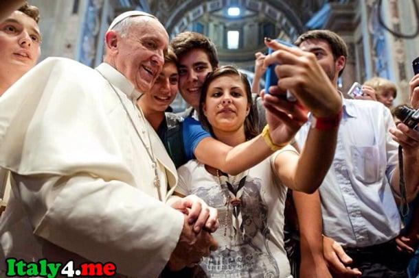 папа Франческо и поклонники