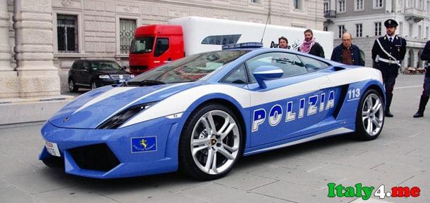 Lamborghini полиция Италия