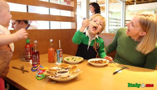 ресторан в Италии дети