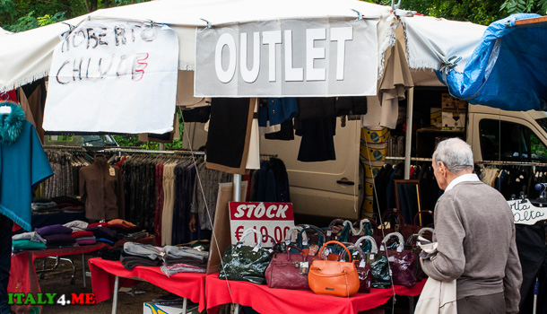 блошиный рынок в Тиволи