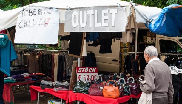 Тиволи, рынок, аутлет
