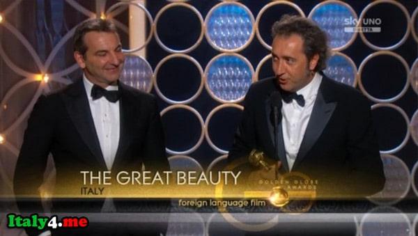 Паоло Соррентино на премии золотой глобус 2014