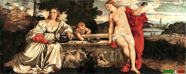 Любовь небесная и любовь земная Тициан
